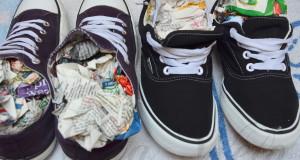 jak prać i suszyć buty