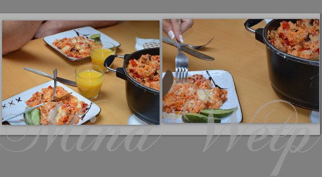 risotto miny wetp z kiełbasą serem i ketchupem