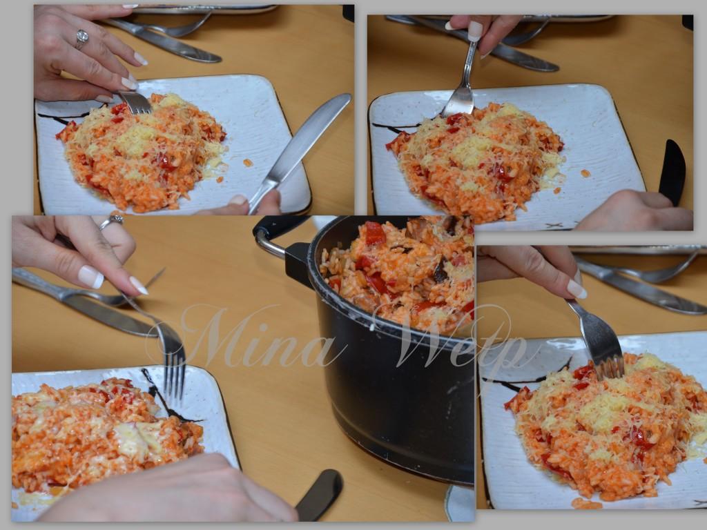risotto miny wetp z kiełbasa i serem