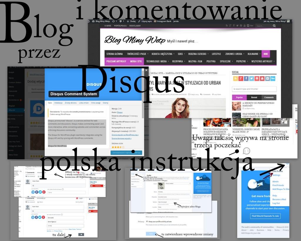 blog i komentowanie przez Disqus polska instrukcja