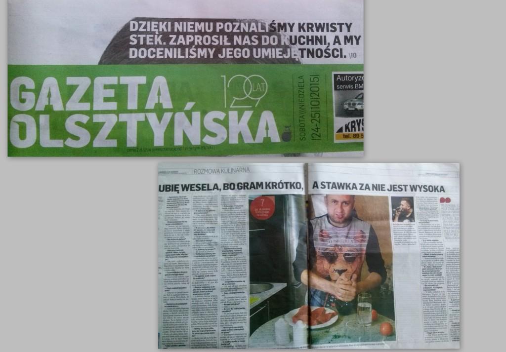 Gazeta Olsztyńska wywiad z Norbim