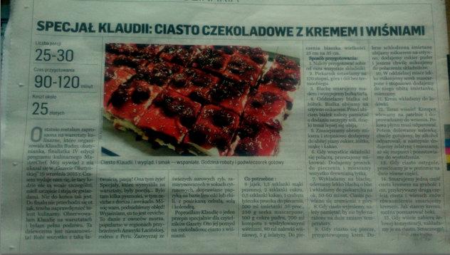Ciasto Klaudi Gazeta Olsztyńska