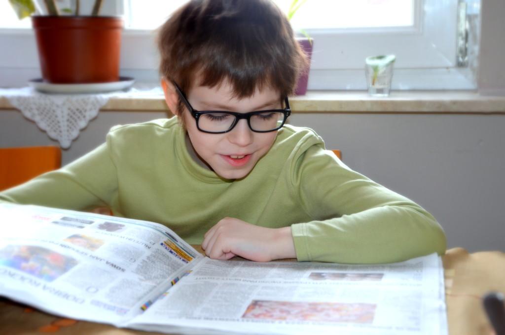 Najmłodszy czytelnik Gazety Olsztyńskiej