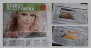 publikacje w Gazecie Olsztyńskiej moje przepisy i historie