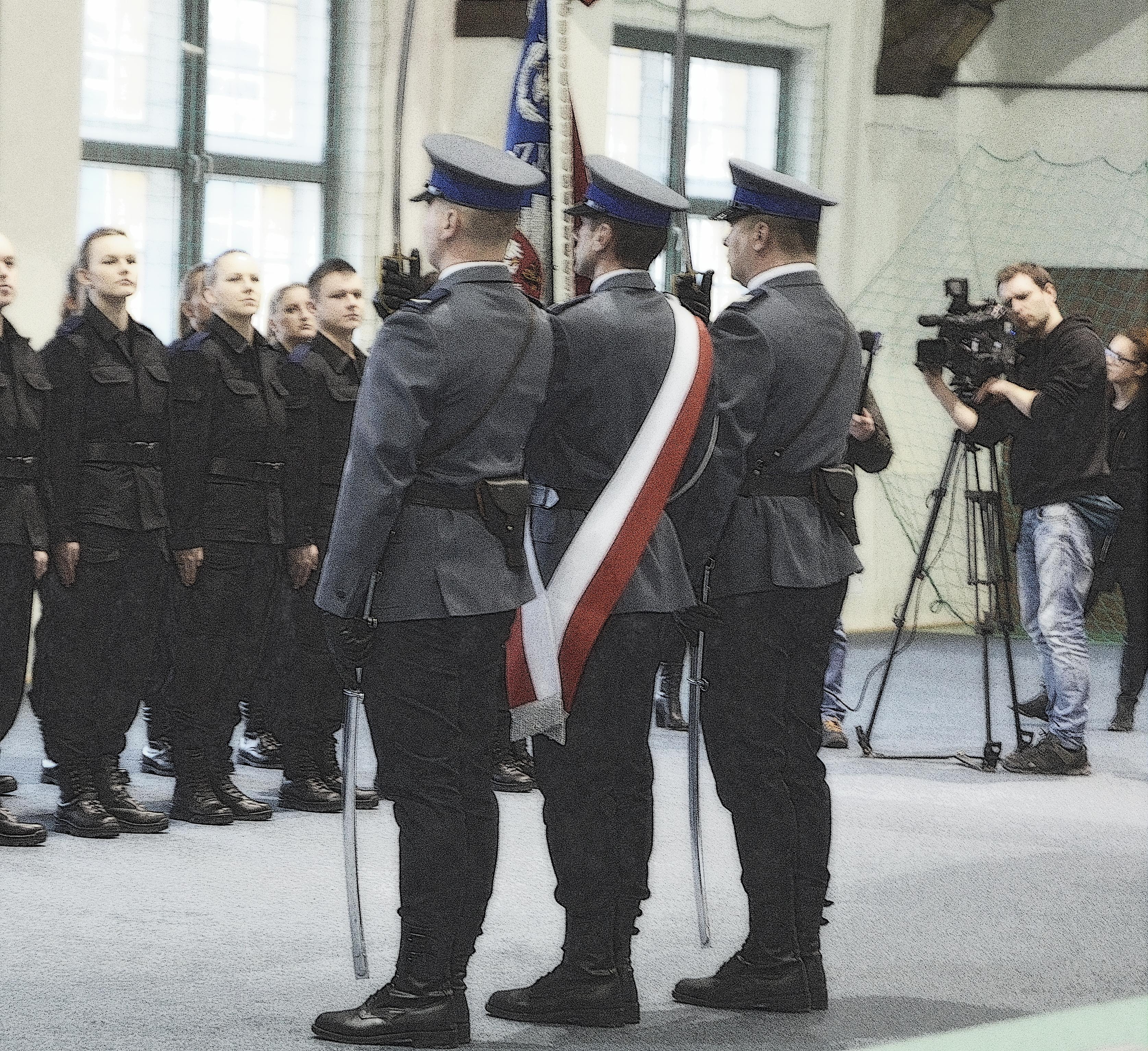 ślubowanie policjantki