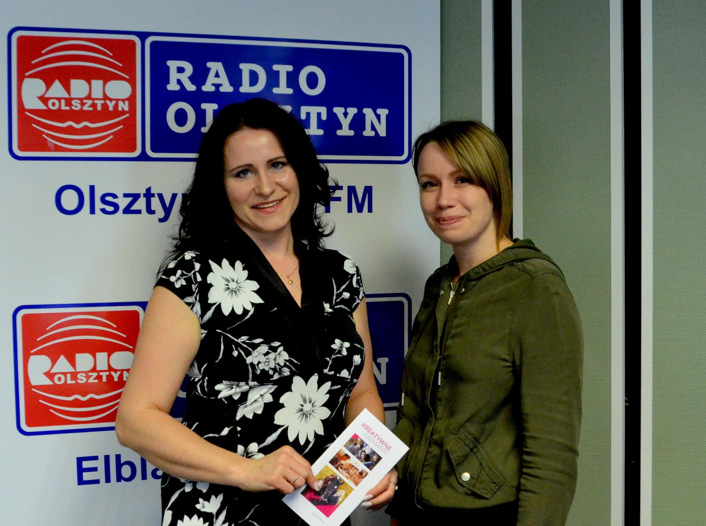 Na pamiątkę po nagraniu w Radio Olsztyn z panią Moniką Szczygło dziennikarką