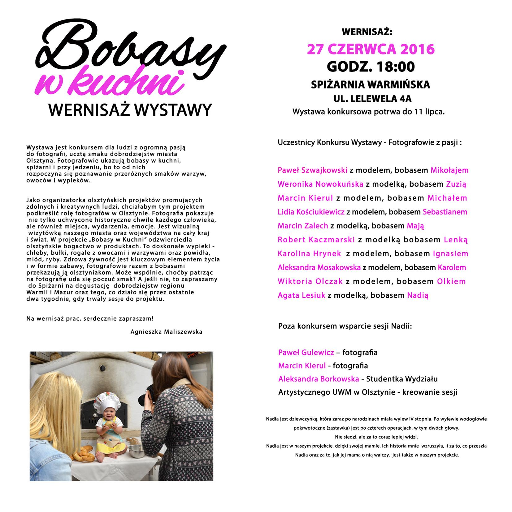 2zaproszenie2 Projekt Bobasy w Kuchni
