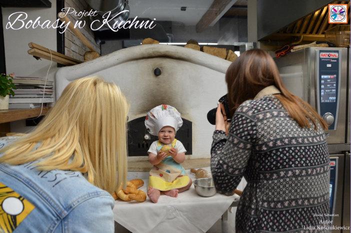 Lidia Kościukiewicz z modelem Sebastianem projekt Bobasy w Kuchni sesja