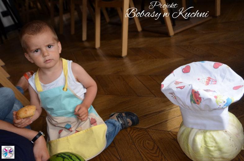 Olga Mosakowska z modelem Karolem do projektu Bobasy w Kuchni sesja4
