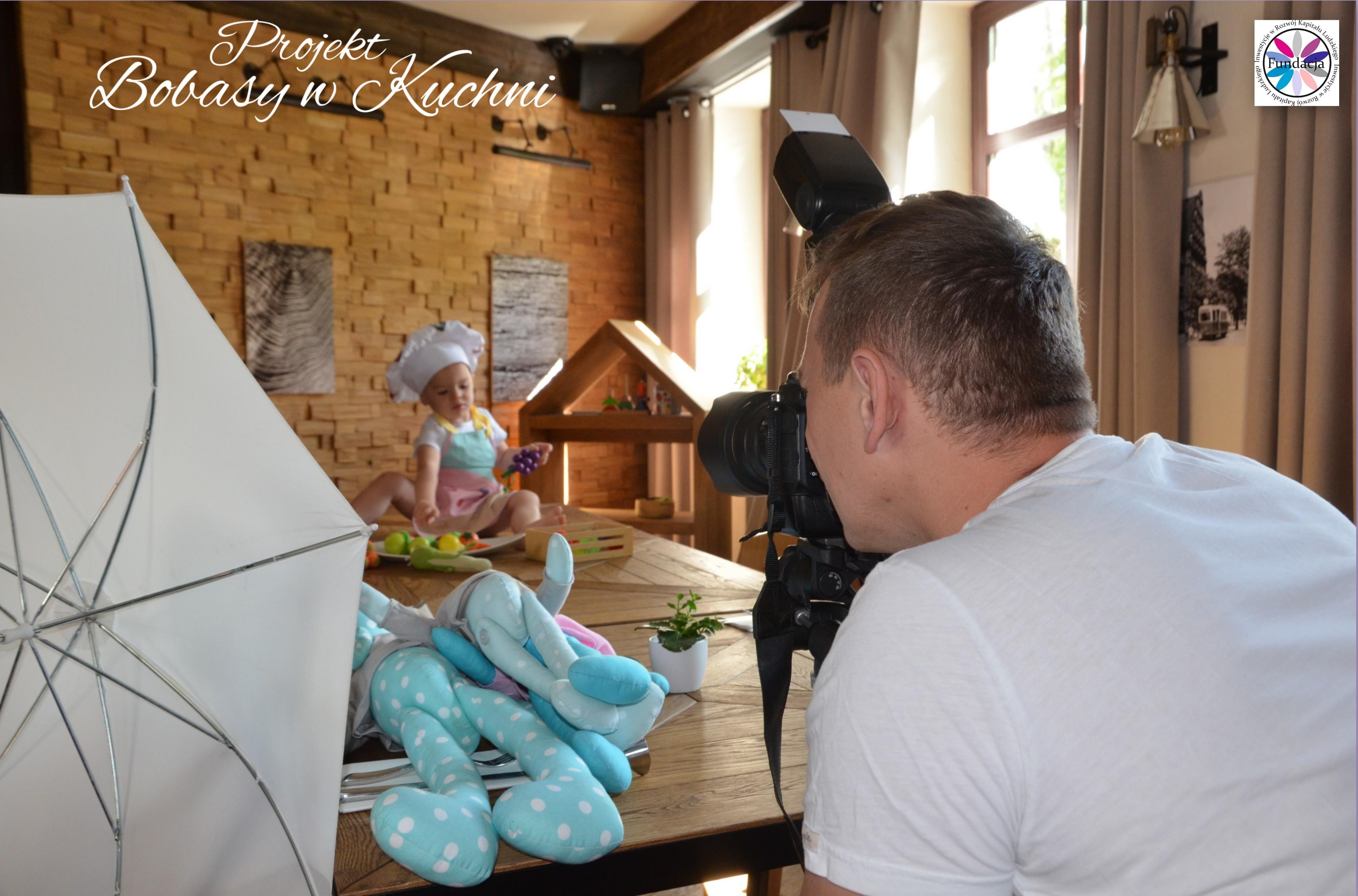 Robert Kaczmarski z Lenką do projektu Bobasy w kuchni sesja6