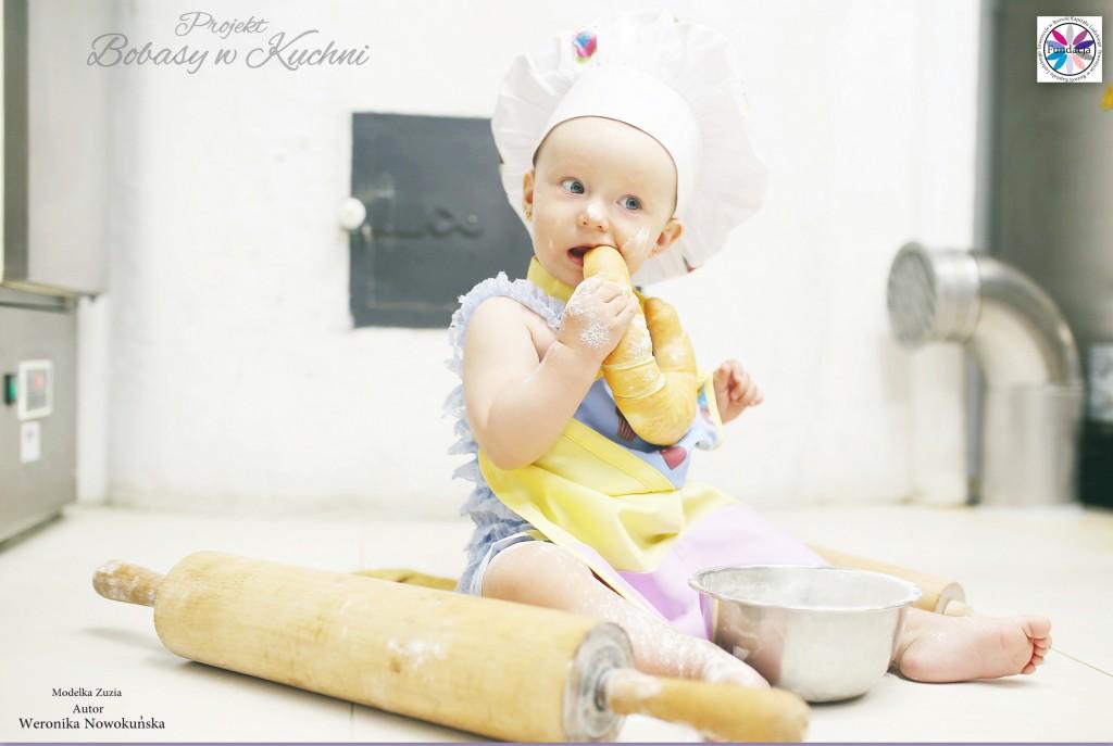 Weronika Nowokuńska z Zuzią do projektu Bibasy w Kuchni 3