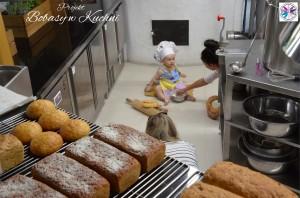 Weronika Nowokuńska z Zuzią do projektu Bibasy w Kuchni sesja 1