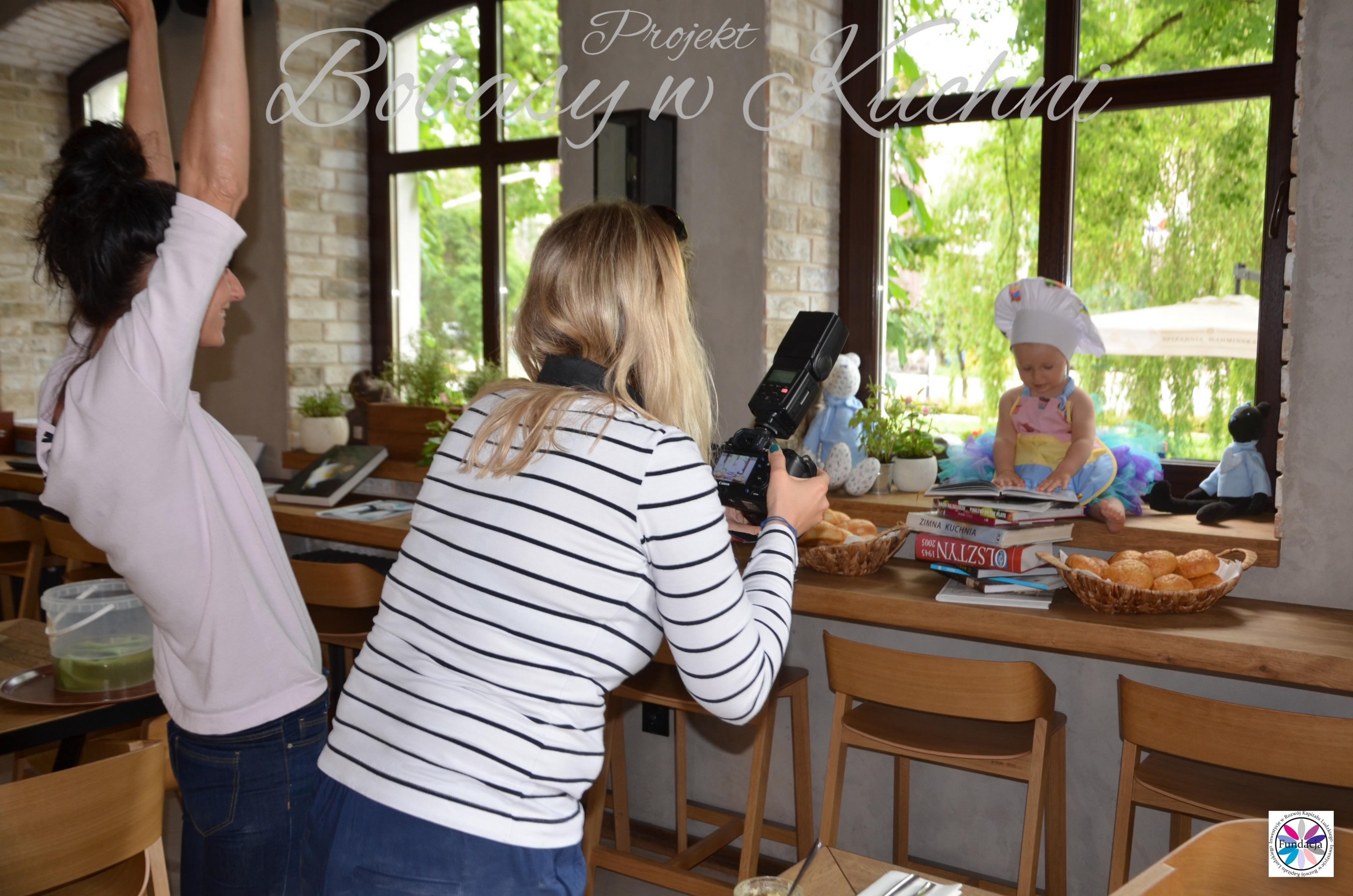 Weronika Nowokuńska z Zuzią do projektu Bibasy w Kuchni sesja 16