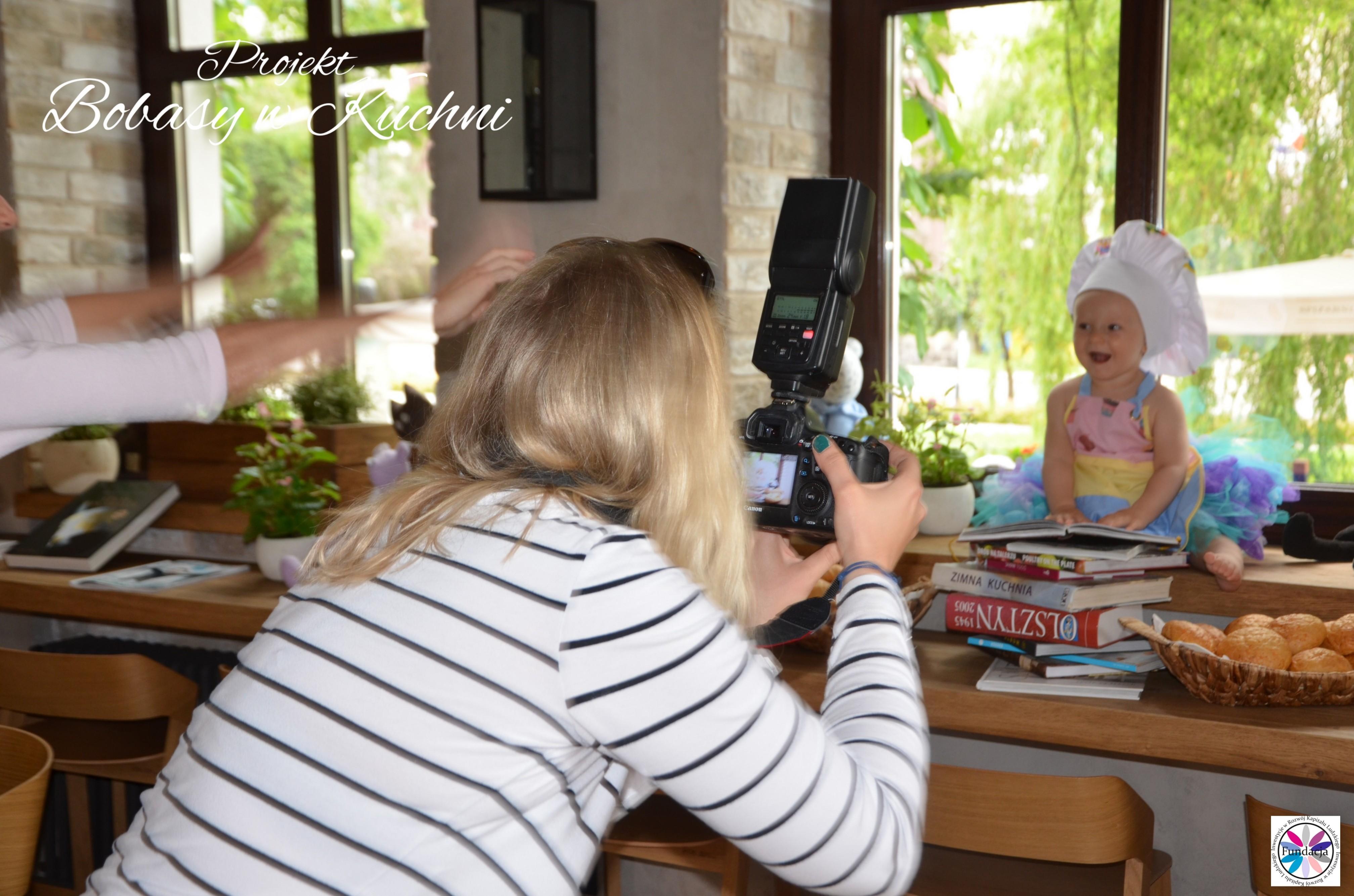 Weronika Nowokuńska z Zuzią do projektu Bibasy w Kuchni sesja16