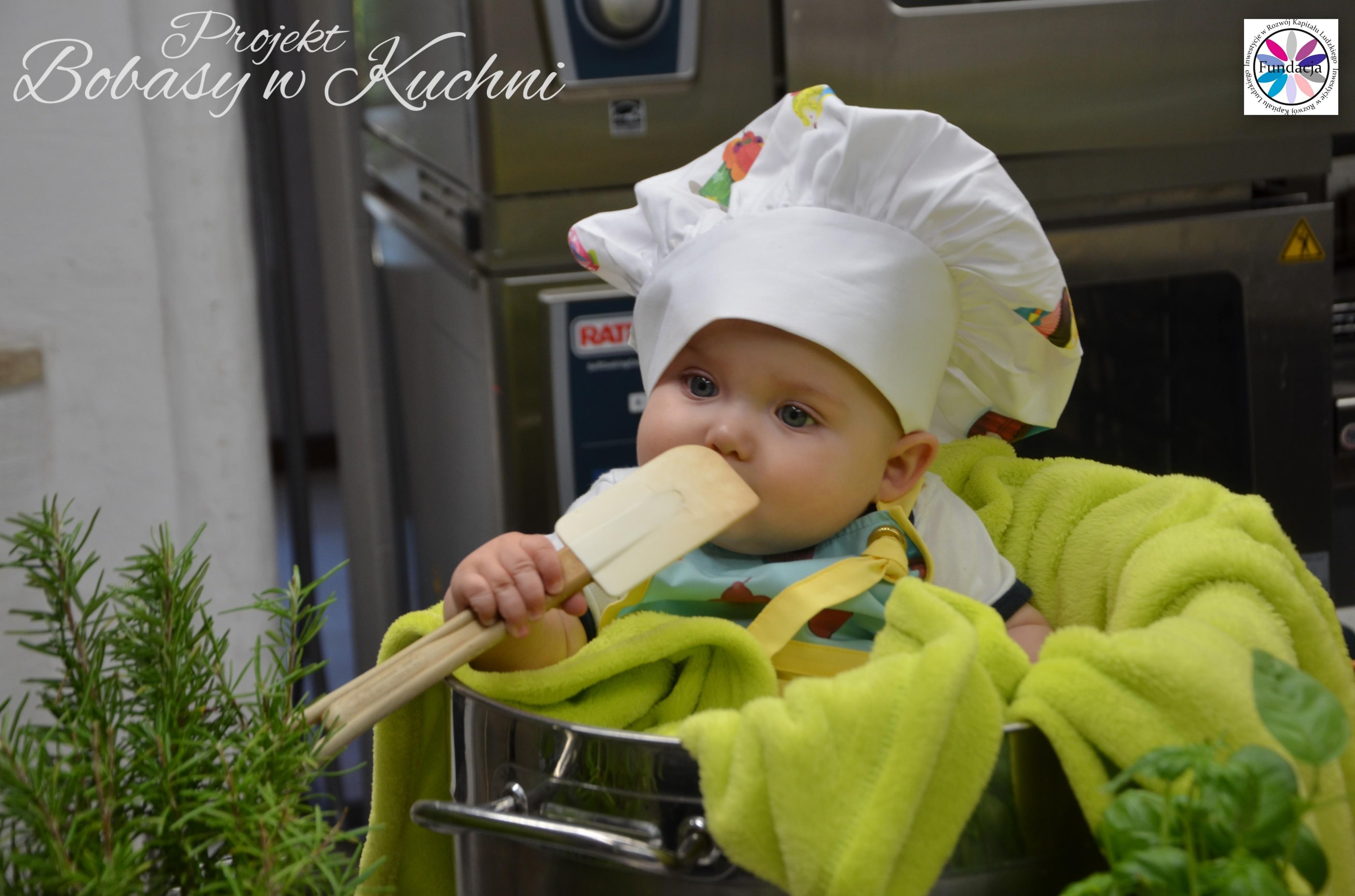 Wiktoria Olczak z Olkiem z projektu Bobasy w Kuchni sesja11