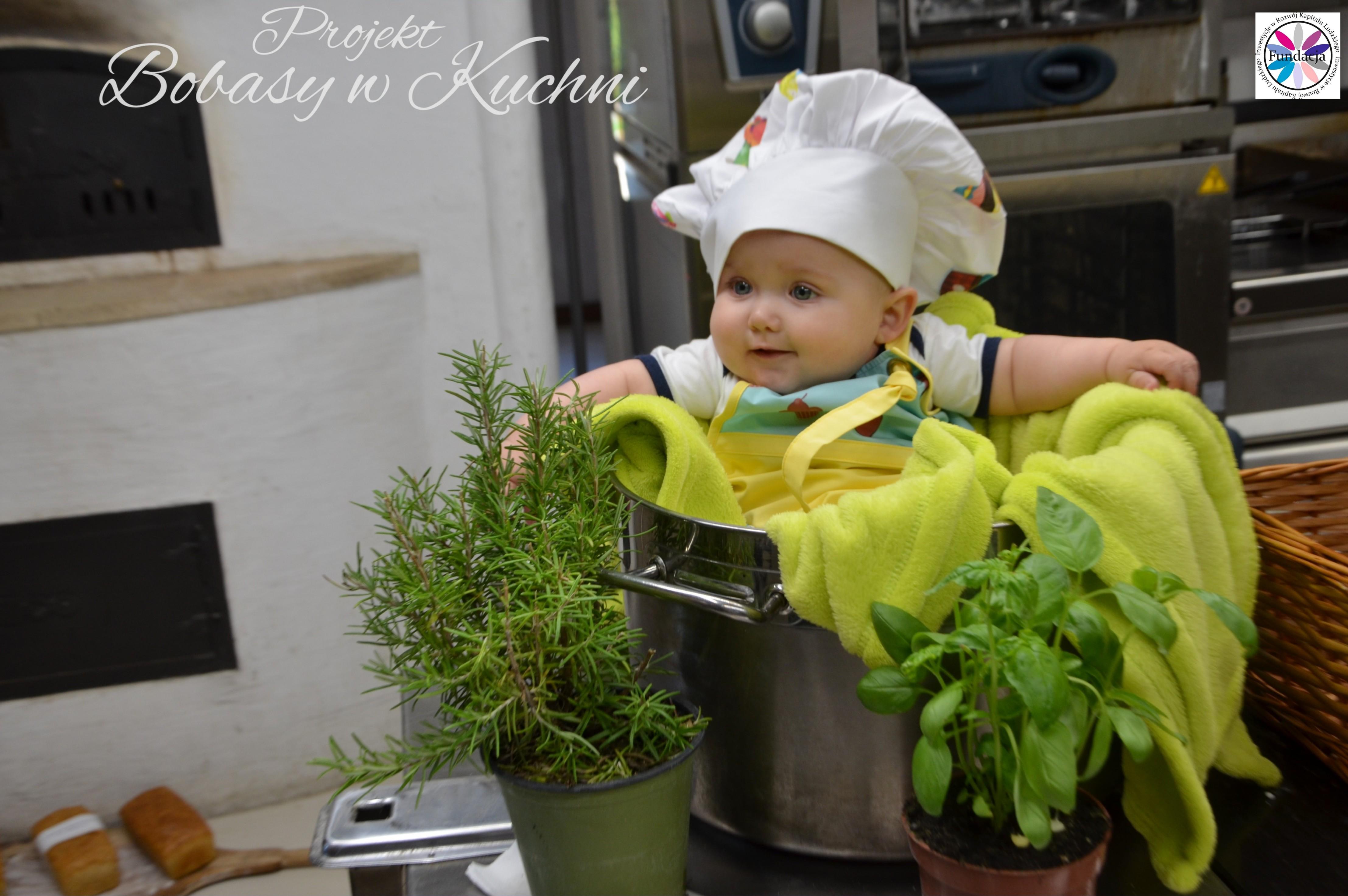 Wiktoria Olczak z Olkiem z projektu Bobasy w Kuchni sesja9