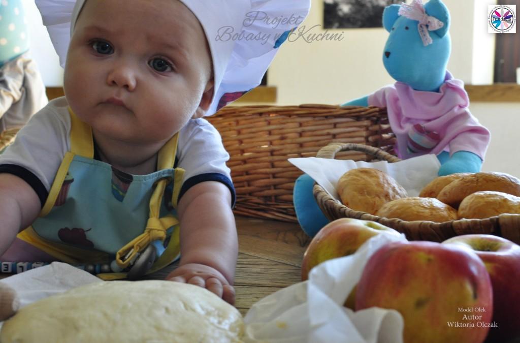 Wiktoria Olczak z Olkiem z projektu Bobasy w Kuchni6