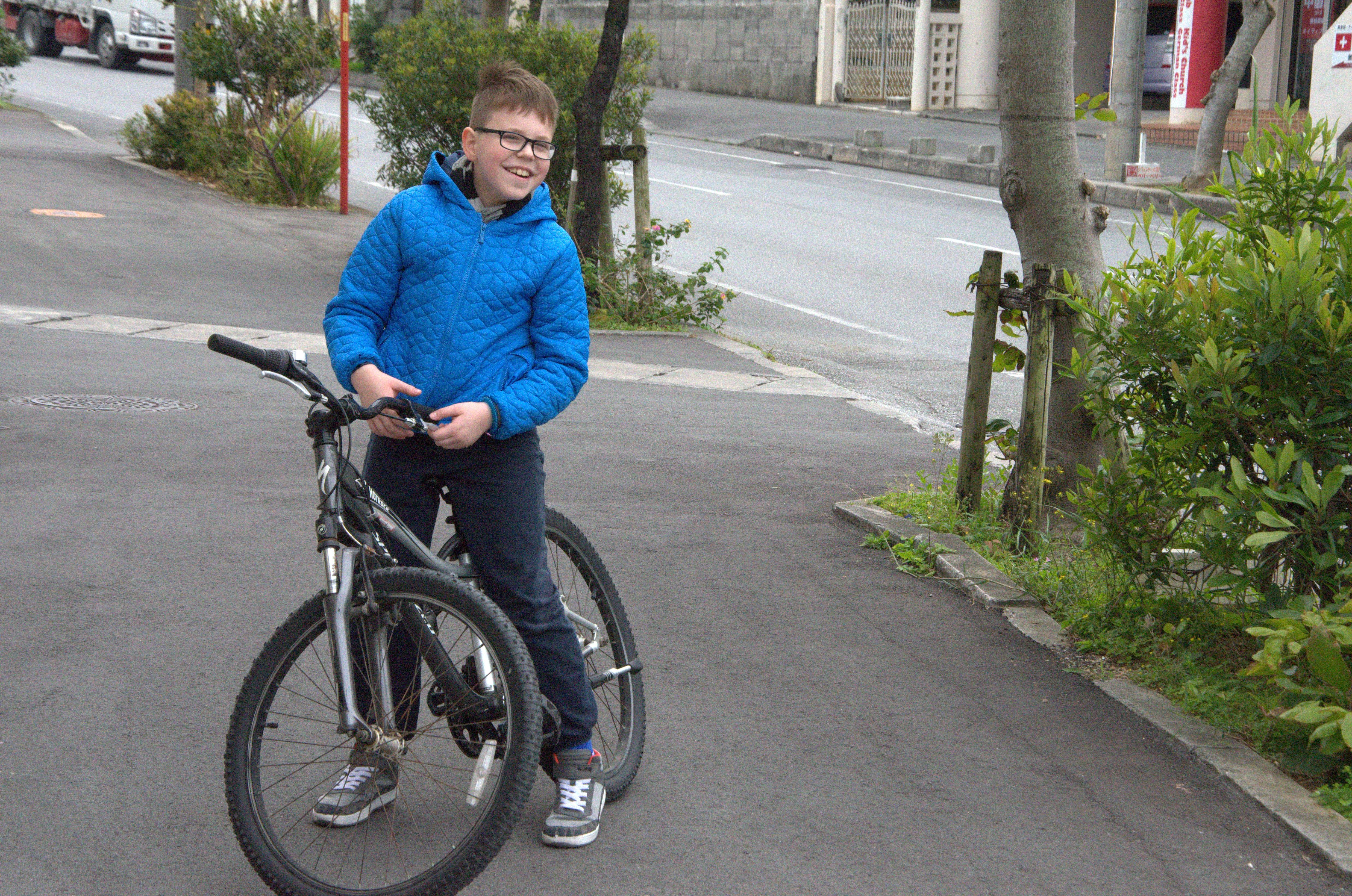 Szymek rower2
