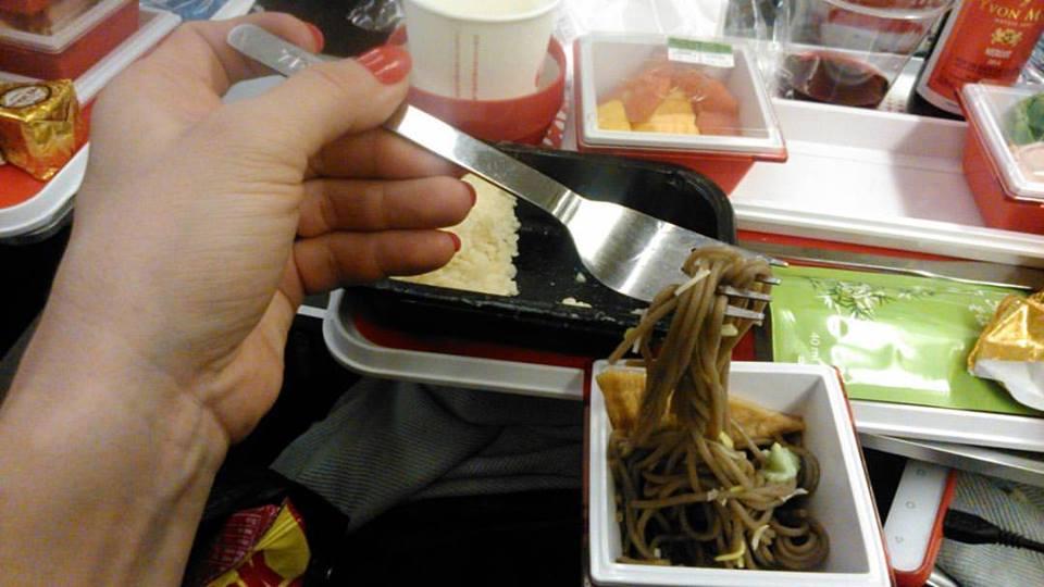 W samolocie obiad